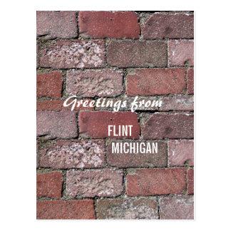 Flint Bricks Postcard