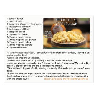 Flint Hills Cheese Soup Recipe Postcard