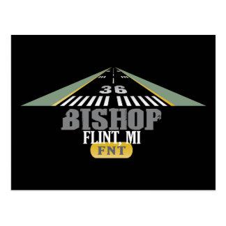 Flint, MI Bishop Airport FNT Airport Runway Postcard