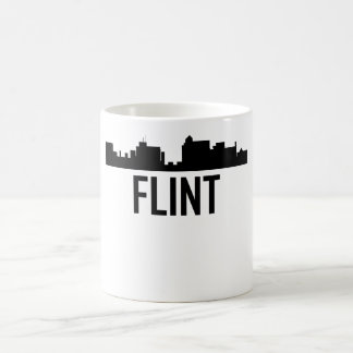 Flint Michigan City Skyline Coffee Mug