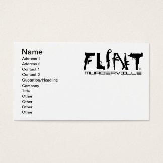 Flint Michigan Murderville Business Cards