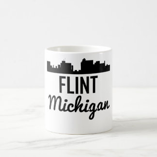 Flint Michigan Skyline Coffee Mug