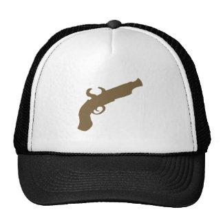 Flint Pistol Silhouette Trucker Hats