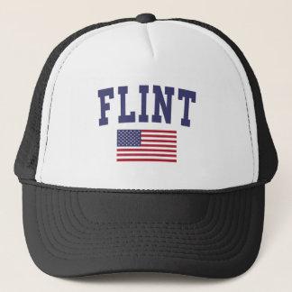 Flint US Flag Trucker Hat