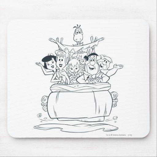 Flintstones Families1 Tapis De Souris