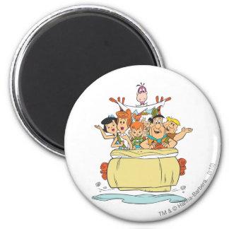 Flintstones Families2 Magnet Rond 8 Cm