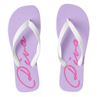 FLIP FLIPS with DIVAtude! (Pink Lettering) Flip Flops