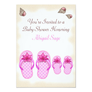 Flip Flop Baby Shower Invitations for Girls