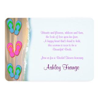 Flip Flop Beach Bridal Shower Card