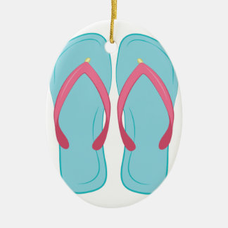 Flip Flop Ceramic Ornament