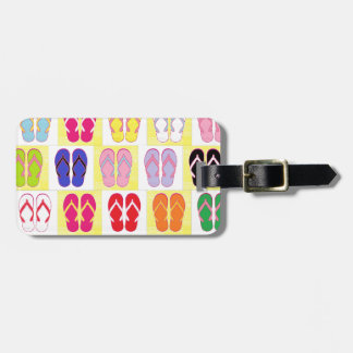 Flip Flop Collage Luggage Tag