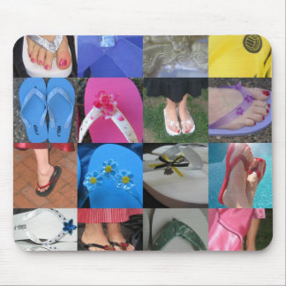 Flip Flop Collage Mouse Pad