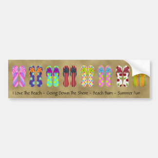 Flip Flop Collections Bumper Sticker