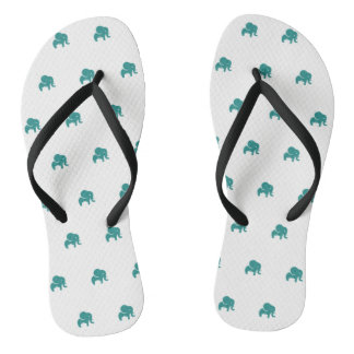 Flip-flop elephant Design Weis-turquoise Flip Flops