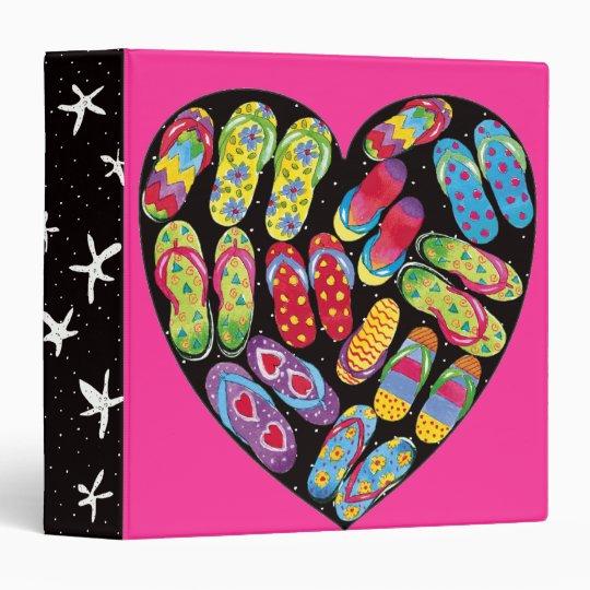 flip-flop heart-binder vinyl binder