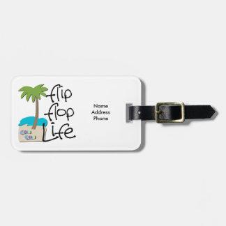 Flip Flop Life Bag Tag