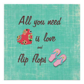 Flip Flop Love Quote Poster