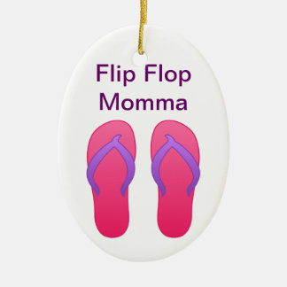 Flip Flop Momma Ceramic Ornament