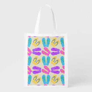 Flip Flop pattern reusable grocery bag