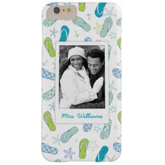 Flip Flop Pattern | Your Photo & Name Barely There iPhone 6 Plus Case