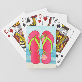 Flip Flop Playing Cards on Beach