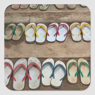 Flip Flop Sandles Square Sticker