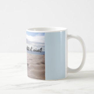 Flip-flop state of mind mug with glistening sand!