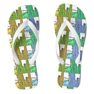 Flip Flops Art Deco Stove Pipe Cactus