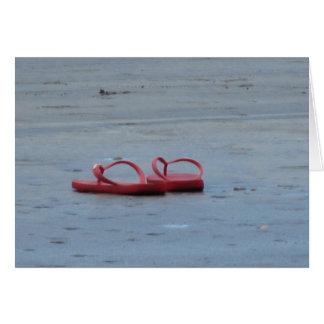 Flip Flops at the Beach Card