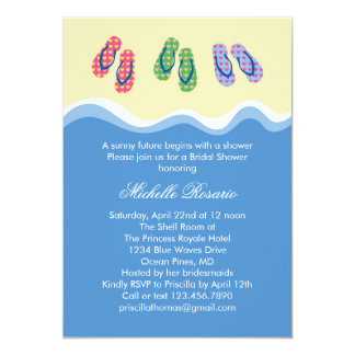 Flip Flops Beach Bridal Shower Invitation