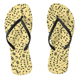 Flip-Flops ~ Beach Party Time ~ Music ~ Any Color~ Flip Flops
