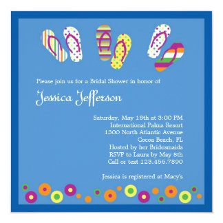 Flip Flops Bridal Shower Invitation