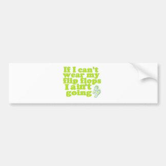 flip flops bumper sticker