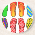 Flip Flops Colourful Fun Beach Theme Summer Gifts Coaster