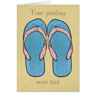 Flip Flops Customizable Card