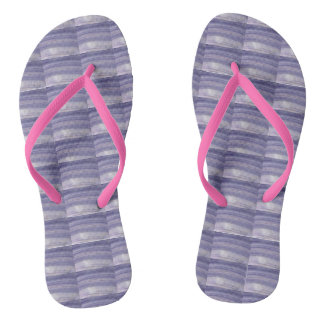 Flip Flops: Digital Wampum & Pink Straps Flip Flops