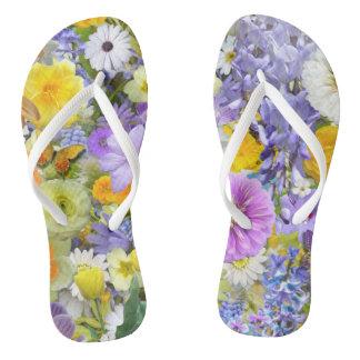 Flip Flops - Flowers and Butterflies
