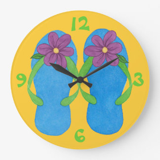 Flip - Flops & Flowers - Summer Clock