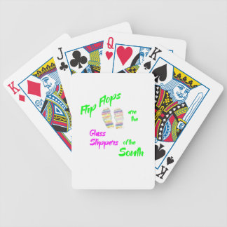 Flip flops for T Bicycle Playing Cards