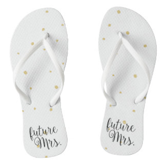 Flip-Flops - Gold Dots future Mrs. Flip Flops