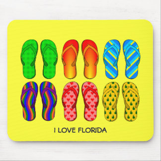 "Flip Flops, ""I Love Florida"" Mouse Pad"
