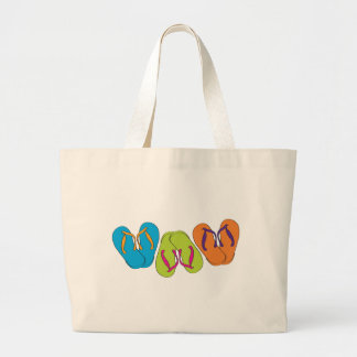Flip Flops Large Tote Bag
