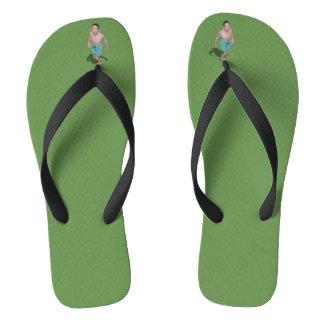 Flip Flops - Little Guy Between Toes Looks Up To U