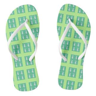 Flip flops, mint green, Auk design Flip Flops
