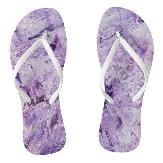 Flip Flops - modern art - multi-color-purple