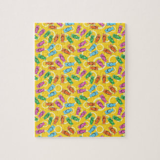 Flip flops on a beach jigsaw puzzle