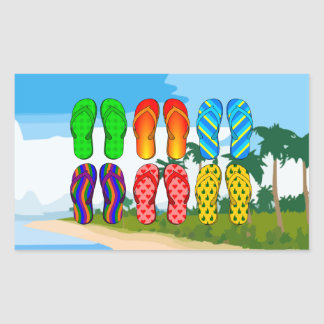 Flip Flops on the Beach Sticker