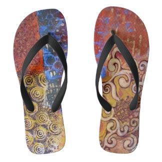 "flip flops ""Oriental day"""