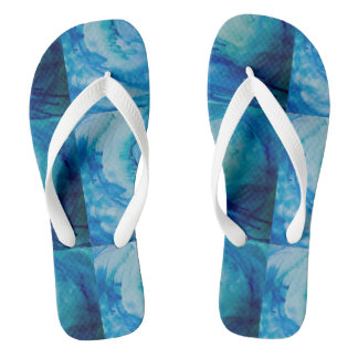 "Flip flops, original art ""sounds of the ocean"" flip flops"