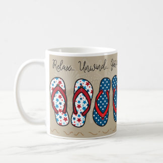 Flip Flops - Patriotic Coffee Mug